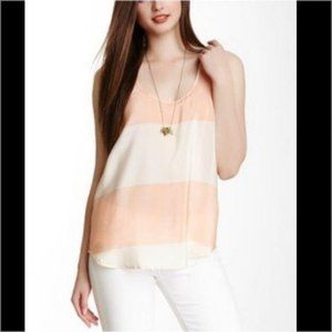 French Connection Bold Block Striped Silk Tank
